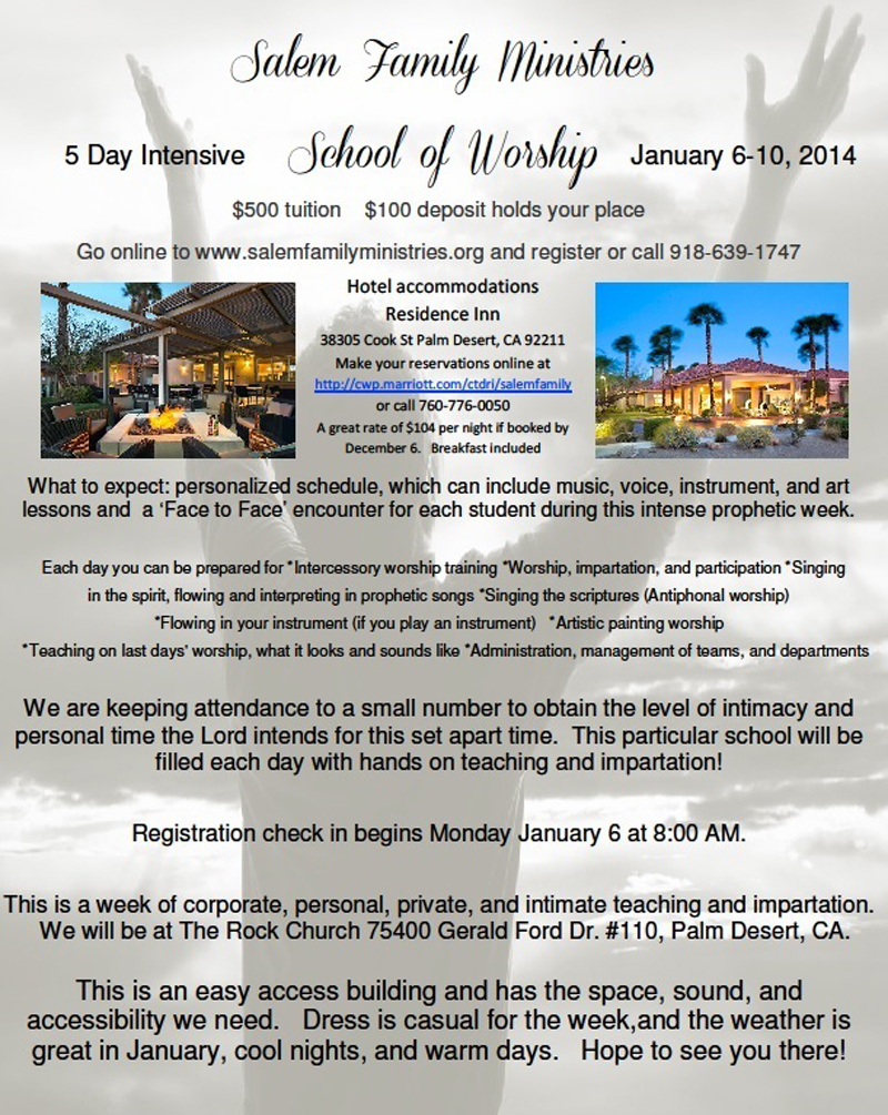 Intensive School of Worship January 6-10